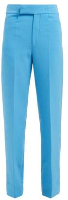 Kwaidan Editions High Rise Tailored Crepe Trousers - Womens - Blue