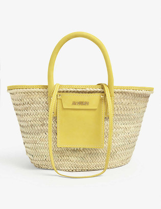 Jacquemus Le panier Soleil woven straw tote bag