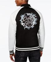 GUESS Men's Duke Floral Embroidered Bomber Jacket