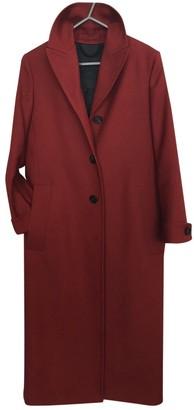 Burberry Burgundy Wool Coats