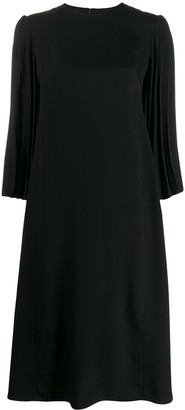 Valentino Double-Faced Pleated Dress