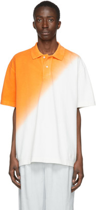 Jacquemus Orange and White Le Polo Soleil Polo