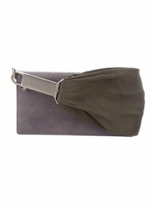 Rick Owens Leather Sashed Baguette Grey