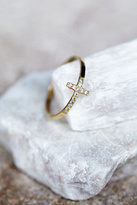 Zoe Chicco Womens DIAMOND CROSS RING
