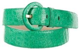 Nancy Gonzalez Crocodile Buckle Belt