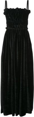 ALEXACHUNG Alexa Chung strap back ruched detail dress