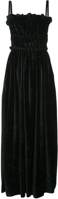 ALEXACHUNG Strap Back Ruched Detail Dress