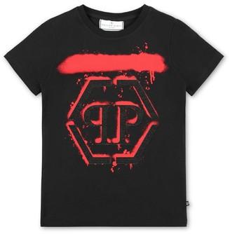 Philipp Plein Junior Graffiti Logo T-Shirt (4-16 Years)