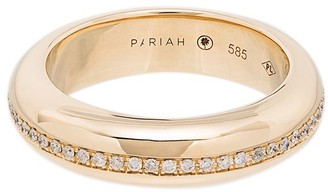 By Pariah 14kt yellow gold diamond encrusted Victoria ring