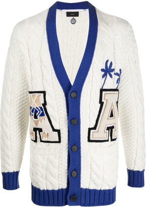 Alanui Varsity Cable Knit Cardigan