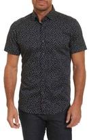 Robert Graham Men's Miki Tailored Fit Print Short Sleeve Sport Shirt