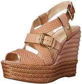 Nine West Women's Kassidy Leather Wedge Sandal