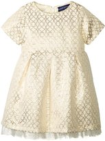 Andy & Evan Jacquard Holiday Dress (Baby) - Gold - 12/18 - 12-18 Months