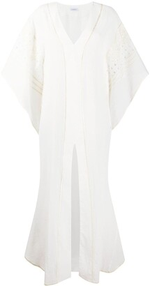 La Perla Embroidered Tulle Draped Kaftan