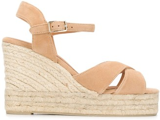 Castaner Crossed-Strap Wedge Sandals