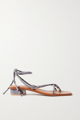 LOQ Ara Snake-effect Leather Sandals - Snake print