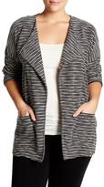 Bobeau Textured Drape Jacket (Plus Size)