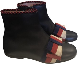 Gucci Navy Leather Boots
