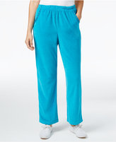 Alfred Dunner Velour Pull-On Pants