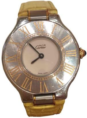 Cartier Must 21 Yellow Steel Watches