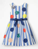 Boden Bright Sequin Spotty Dress