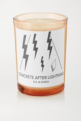 D.S. & Durga Concrete After Lightning Scented Candle, 200g - Colorless