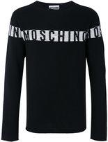 Moschino logo intarsia sweater - men - Silk/Virgin Wool - 46
