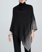 Eileen Fisher Ombre-Striped Poncho, Ash