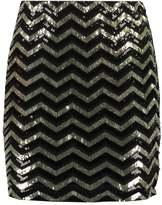 Vero Moda VMLINN Mini skirt black/gold