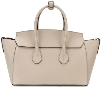 Bally Logo Embossed Tote Bag