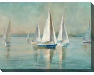 "West of the Wind Smooth Sailing Indoor/Outdoor Art, 40"" x 30"""