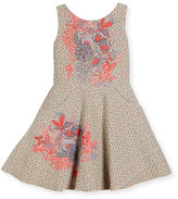 Zoë Ltd Day Dream Metallic Tweed Swing Dress, Pink Pattern, Size 7-16