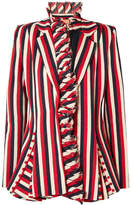 Maggie Marilyn I Lead From The Heart Striped Cotton-canvas Blazer