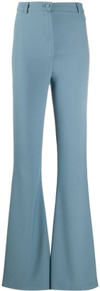 Hebe Studio High-Waisted Flared Style Trousers