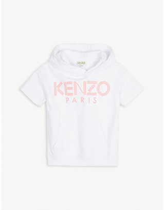 Kenzo Logo-print short-sleeve cotton hoody 4-14 years