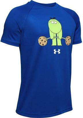 Under Armour Boys' UA Tech Cookie Cartoon Short Sleeve
