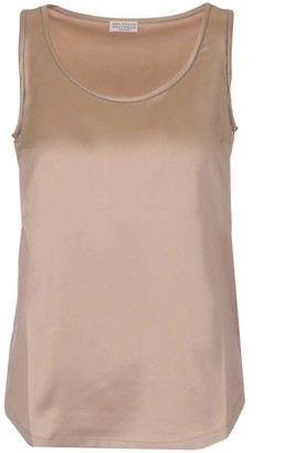 Brunello Cucinelli Embellished Beads Tank Top