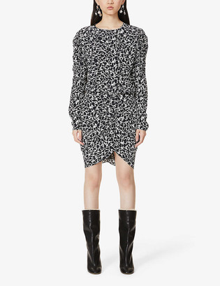 Etoile Isabel Marant Selwyn abstract-print crepe midi dress
