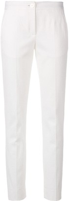 Talbot Runhof Textured Slim-Fit Trousers