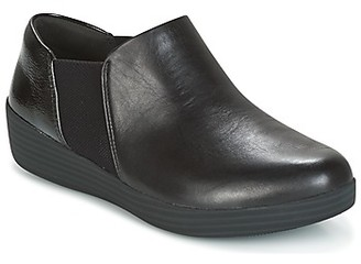 FitFlop ELASTIC PANEL SHOE BOOTIE women's Slip-ons (Shoes) in Black