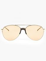 Linda Farrow 22ct Gold-Plated Aviator Sunglasses