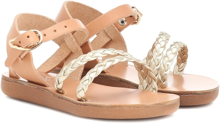 Ancient Greek Sandals Kids Little Afrodite leather sandals
