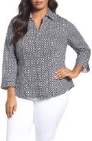 Foxcroft Plus Size Women's Tile Print Shirt