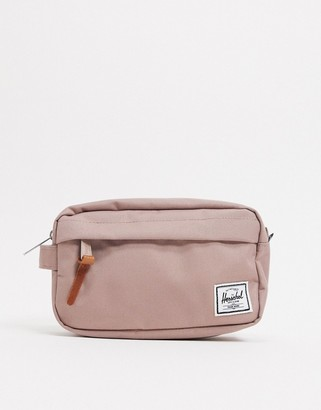 Herschel Chapter ash rose pink make up travel bag
