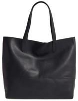 Sole Society Dawson Oversize Faux Leather Shopper - Black
