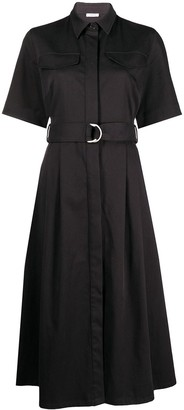 P.A.R.O.S.H. Belted Shirt Midi Dress