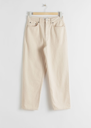 And other stories Tapered Mid Rise Jeans