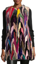 Alice + Olivia Jade Multicolor Fur Vest