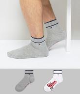 Tommy Hilfiger Quarter Socks In 2 Pack