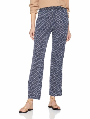Damart Women's Pantalon Imprime Maille Jambe Droite Trouser